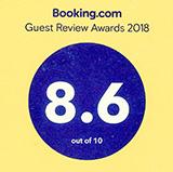 Bookin.comで8.5の高評価