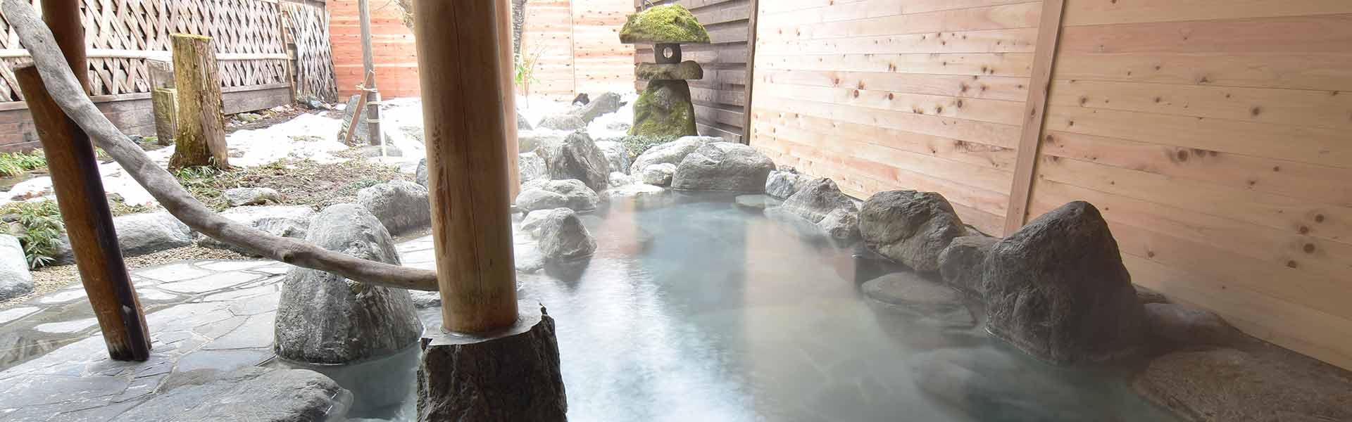 露天風呂「庄兵衛の湯」、男湯